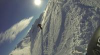 Chris in der Steilwand